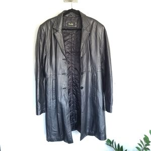 Excelled Leather Trench sz XL